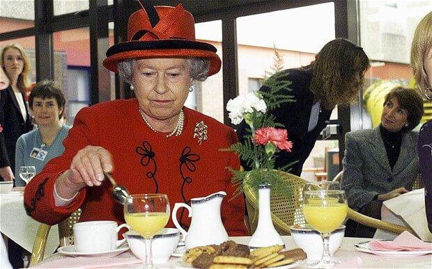 petit déjeuner de la reine d'angleterre