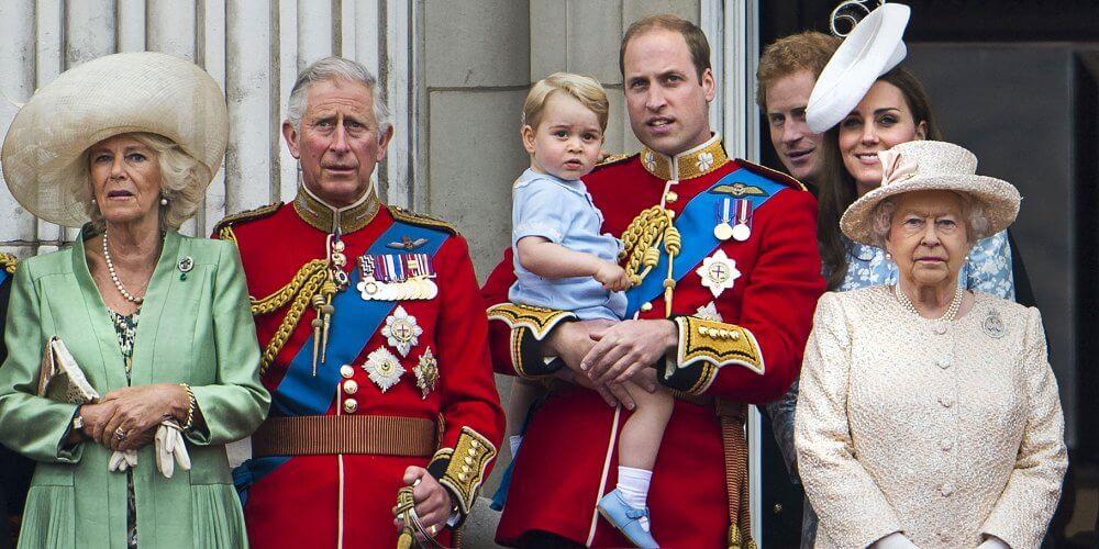 la famille royale britannique prise en photo